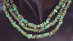 Greenish colorway with. Maximum sides of beads is 7 mm. Turquoise Necklace, Shades, Brown, Ebay, Jewelry, Jewellery Making, Jewerly, Jewelery, Teal Necklace