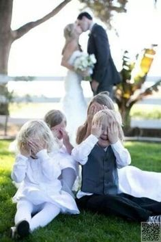 12. Kids & #Kissing - 44 Amazing #Wedding #Photography Ideas to Copy ... → Wedding #Great