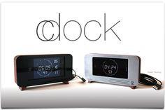 iPhone docking clock.