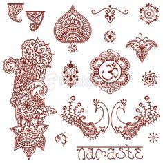 Mehndi Design Elements Royalty Free Stock Vector Art Illustration
