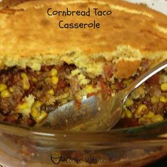 Cornbread Taco Casserole by Coffee With Us 3 #recipes #dinner