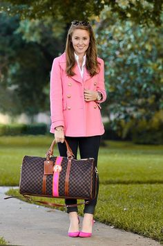 The monogrammed duffle preppy southern, preppy fall outfits southern prep, preppy style winter, Estilo Preppy, Cute Preppy Outfits, Classy Outfits, Preppy Dresses, Womens Preppy Outfits, Preppy Clothes, Teenage Outfits, Night Outfits, Work Clothes