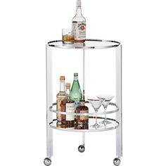 ernest chrome bar cart in dining furniture | CB2