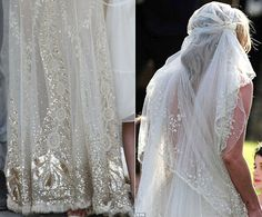 Kate Moss... her wedding dress had some PHENOMENAL detail... as well as being soft, floaty, and feminine.  LOVE IT