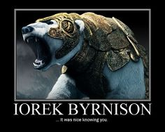 Armored bear, from The Golden Compass.