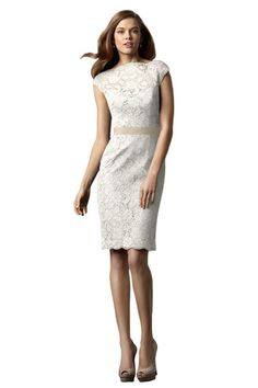 Watters Hawthorn Lwd Little White Dress | Weddington Way