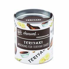 BIO Teriyaki Mischung für Teriyaki Sauce - 100% BIO - aus Österreich - ZERO WASTE - unglaublich lecker! Jetzt ausprobieren! #teriyaki #regionaleprodukte #asiatischesessen #zerowaste #bio #kochen #essen #genießen Teriyaki Sauce, Ben And Jerrys Ice Cream, Snacks, Coffee Cans, Food Inspiration, Desserts, Healthy Recipes, Cooking, Food And Drinks