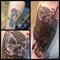 Owl, cover up. Work in progress.