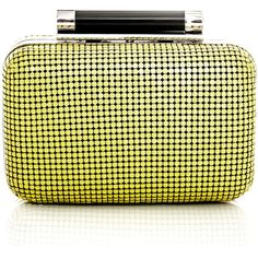 Diane Von Furstenberg Small Tonda chainmail clutch ($348) ❤ liked on Polyvore