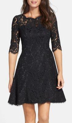 Pretty black lace holiday dress