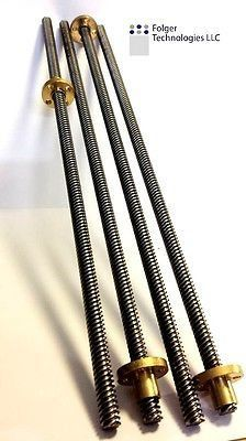 8mmx500mm lead screw for CNC and 3D printer applications, this listing is for 1 item. Comes with brass nut.