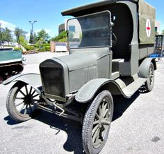 This is a reproduction WWI Ford Model T Ambulance.  It is built on a 1921 Ford Model T chassis. To learn more about this historical ride and how is can be yours; visit GovLiquidation.