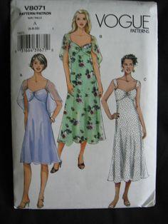 Vogue Misses Dress Sewing Pattern V8071 Uncut UC FF by Vntgfindz