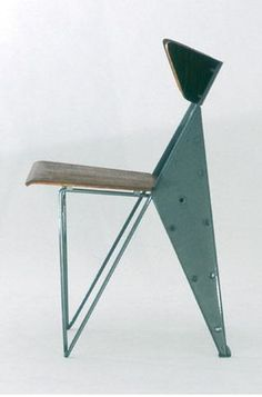 Jean Prouve; Metal and Wood Chair, 1950s.--(Please Follow (2) Design-Modern-Furniture-Objects For New Pins)