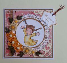 feito à mão por Regina: Cartão com carimbo que ganhei da Eulanda