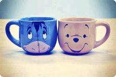 eeyore & pooh mugs