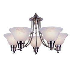 Stewart 5-Light Brushed Nickel Incandescent Ceiling Chandelier