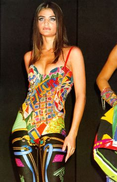 Helena for Gianni Versace, s/s 1991  Estamparia!!!