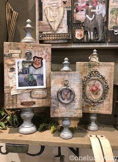 One Lucky Day: A Trio of Boxes. Finial set of vignette boxes, set of 3 (nesting). Altered Canvas, Altered Art, Altered Tins, Mixed Media Canvas, Mixed Media Art, Mix Media, Copic, Timmy Time, Paper Art