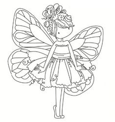 Fairy Coloring Pages, Adult Coloring Pages, Coloring Sheets, Coloring Books, Free Coloring, Coloring Pages For Kids, Diy Y Manualidades, Tampons Transparents, Scrapbooking