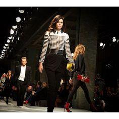 """#HMBALMAINATION #KendallJenner walking the Balmain x @hm runway show"" Photo taken by @balmainparis on Instagram, pinned via the InstaPin iOS App! http://www.instapinapp.com (10/21/2015)"