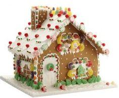 Casa de jengibre colorida
