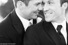 These grooms are incredibly cute. Wedding Photography by Kate McElwee