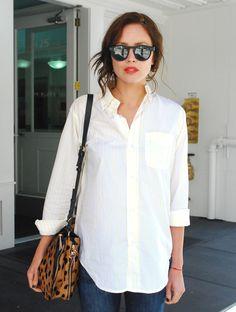 White / Shirt / Sunglasses