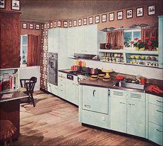 vintage metal kitchen - Bing Images