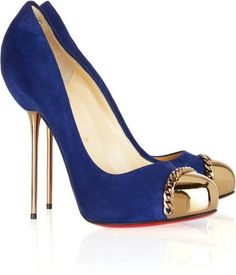 ShopStyle: Christian Louboutin Metallip 120 suede and metal pumps
