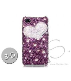 Fancy Love Bling Swarovski Crystal Phone Cases - Purple