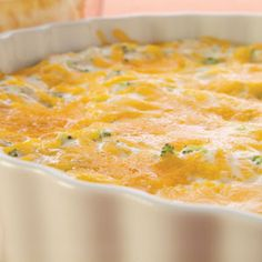 Hot Broccoli Cheese Dip What You Need1 pkg. (8 oz.) PHILADELPHIA Cream Cheese, softened1 cup BREAKSTONE'S or KNUDSEN Sour Cream1 env. GOOD SEASONS Italian Dressing Mix1 pkg. (10 oz.) frozen chopped broccoli, thawed, well drained1 pkg. (8 oz.) KRAFT Shredded Cheddar Cheese, dividedMake ItHeat oven to 350°F. Beat cream cheese, sour cream and dressing mix in large bowl with mixer until well blended. Add broccoli and 1-1/2 cups cheddar; mix well. Spread into 9-inch pie plate.Bake 20 min…