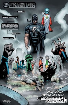 Blackest Night Issue - Read Blackest Night Issue comic online in high quality Comic Book Characters, Comic Character, Comic Books Art, Comic Art, Green Lantern Corps, Black Lantern, Green Lanterns, Arte Dc Comics, Dc Movies