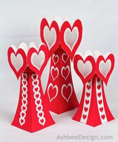 Ashbee Design Silhouette Projects: 3D Valentine Tea Light Luminaries
