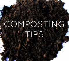 Here are some tips on making the most of your compost