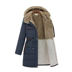 Amazon.com: Misun Women's Luxury Winter Padded Jacket Parka Long ...