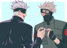 Kakashi Sensei, Naruto Vs Sasuke, Naruto Funny, Anime Naruto, Manga Anime, Anime Crossover, Funny Anime Pics, Cute Anime Guys, Koe No Katachi Anime