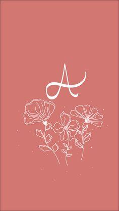 A Hand lettering A Letter Wallpaper, Images Wallpaper, Emoji Wallpaper, Kawaii Wallpaper, Tumblr Wallpaper, Wallpaper Backgrounds, Hot Glue Art, Future Wallpaper, Stylish Alphabets