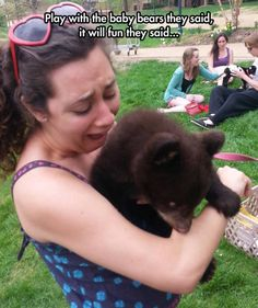 Funny pictures about It's All Fun And Games Until Someone Gets Mauled By A Tiny Bear. Oh, and cool pics about It's All Fun And Games Until Someone Gets Mauled By A Tiny Bear. Also, It's All Fun And Games Until Someone Gets Mauled By A Tiny Bear photos. Funny Images Gallery, Best Funny Images, Funny Pictures, Funny Pics, Bear Pictures, Random Pictures, Funny Cute, The Funny, Hilarious