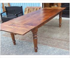 Large leg seven foot harvest table - Glengarry Harvest And Farm Tables - Johnsons Antique Store