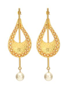 Tanjore Gold Art Silver Earrings With Pearl #Ekatrra #Ruby #Stone #Gold #Earring #Fashionwear #womenshopping #Onlineshopping #Trendy #Follow #Fashionable #Love #Gift #Accessories #Jewellery #Studs Shop now: http://bit.ly/1RIaHTQ