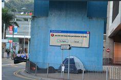 Try again. (Street art in Hong Kong.)