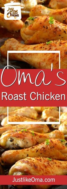 Yummy oven-fried chicken ... Brathendl ... so easy and delicious, made just like Oma!  http://www.quick-german-recipes.com/oven-fried-chicken.html