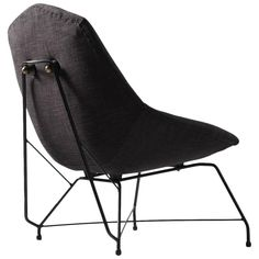 Rare High Back Augusto Bozzi Lounge Chair for Saporiti | From a unique collection of antique and modern lounge chairs at https://www.1stdibs.com/furniture/seating/lounge-chairs/