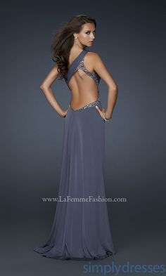 Long One Shoulder Formal Dress 338