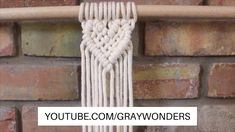 Macrame Heart with a Woven Center – Great İdeas – Kreativ Macrame Design, Macrame Art, Macrame Projects, Macrame Supplies, Micro Macrame, Macrame Wall Hanging Patterns, Macrame Patterns, Diy Crafts Videos, Youtube