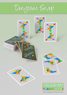 Tangram Snap - Free printable templates - http://www.tangram-channel.com/tangram-snap-cards/