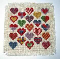 Dollhouse Miniature Rug Country Hearts  1/12 scale by CalicoJewels, $35.00