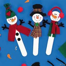 Muñecos de nieve en abatelenguas