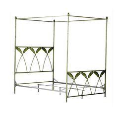 Corsican 43634 Queen/ King Palm Leaf Canopy Bed  sc 1 st  Pinterest & Quatrafoil Queen Canopy Bed Black | Queen canopy bed Canopy and ...